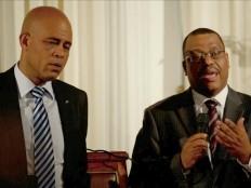 Haïti - Politique : Conférence de presse Martelly - Conille