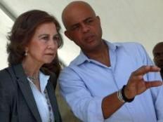 Haïti - Reconstruction : La Reine Sofía d'Espagne et le Président Martelly à Titanyen