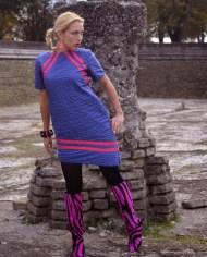 Hajdučica Clothing – Online Store-Ljubicasta asimetricna haljina The Blow UP