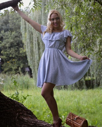 Hajdučica Clothing - Online Store - dress with flounce