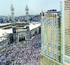 Friday's noon prayer at Haram in Makkah