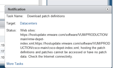 patch definitions and patches cannot be accessed or have no patch data. Check the Internet connectivity.