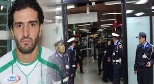 آيت العريف يجد الأمن في استقباله لدى وصوله للمغرب