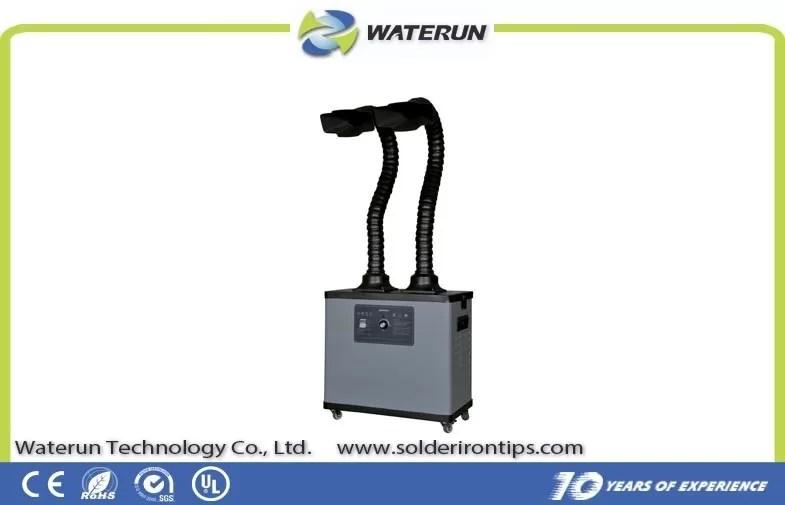 mobile solder fume extractor wide nozzle exhaust fume extractor