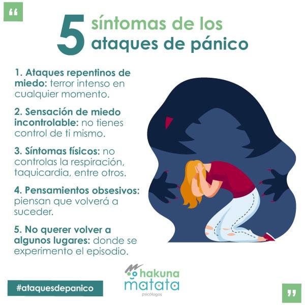 5 síntomas de los ataques de pánico