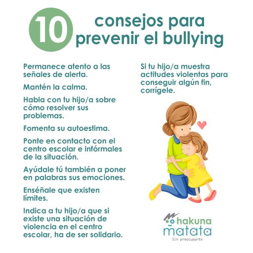 Consejos para prevenir el acoso escolar
