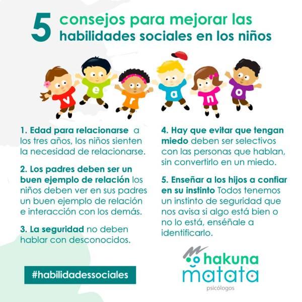 5 consejos para mejorar las habilidades sociales de los niños