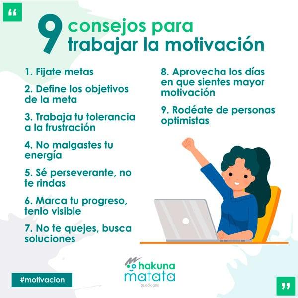 9 consejos para trabajar la motivacion