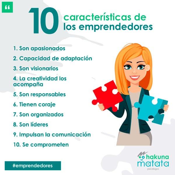 Características de los emprendedores