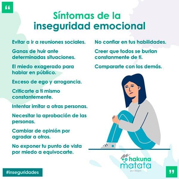 Síntomas de la inseguridad emocional