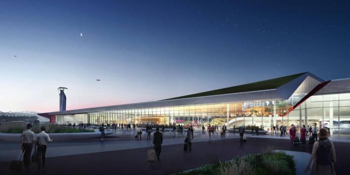صورة تخيلية لمطار كوتايسى بعد التطوير