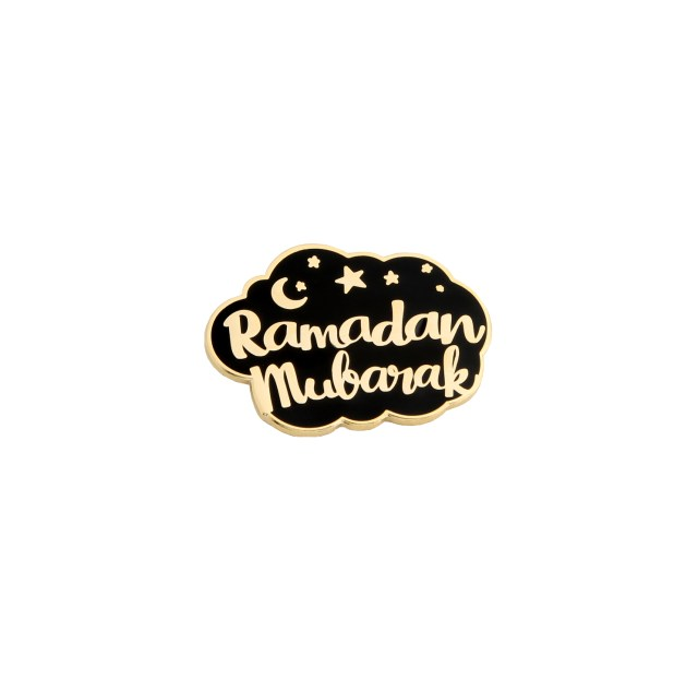 Ramadan Mubarak Pin Badge Special Celebration Black