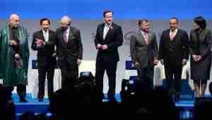 World economic forum opens in london