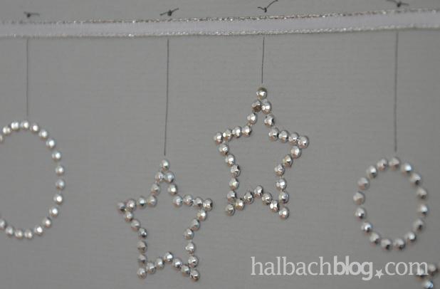 DIY-Idee halbachblog: Weihnachtskarten basteln mit selbstklebenden Glitzer- und Filzstickern
