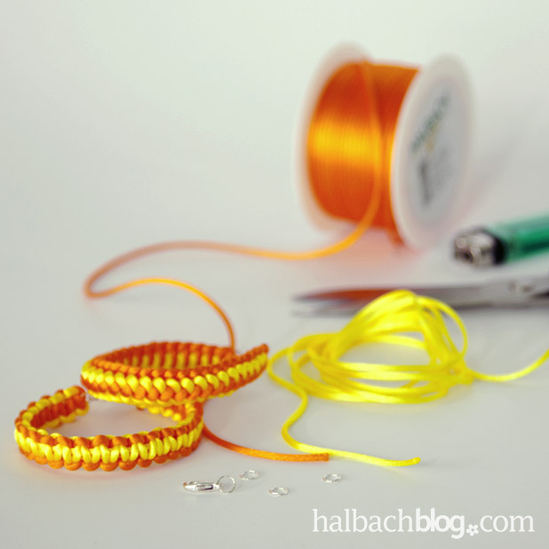 DIY-Idee halbachblog: Anleitung - Armbänder selber knüpfen - Materialien