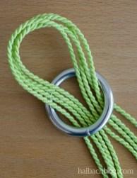 DIY-Idee halbachblog: Step-by-Step-Tutorial für Hängeampeln, Aufhängung Metallring