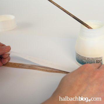 DIY-Idee halbachblog: Fototransfer auf Kork - Armband aus Korkstoff mit Schriftzug mit Fototranfer-Technik