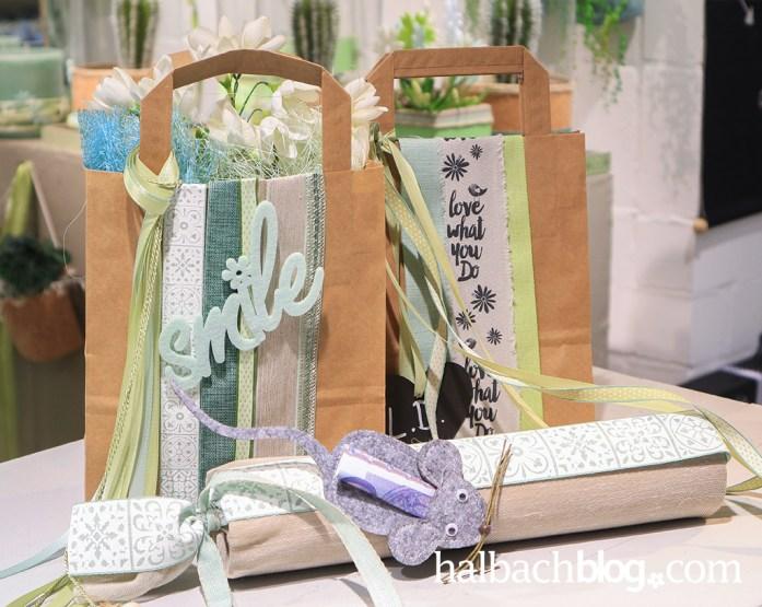 DIY-Idee halbachblog: Geschenke liebevoll verpackt I Geschenkverpackung in Papiertragetaschen I