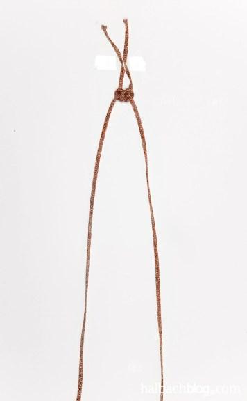 DIY-Idee Halbachblog: Edles Mini-Seemannsknoten Armband aus Glitzer-Kordel
