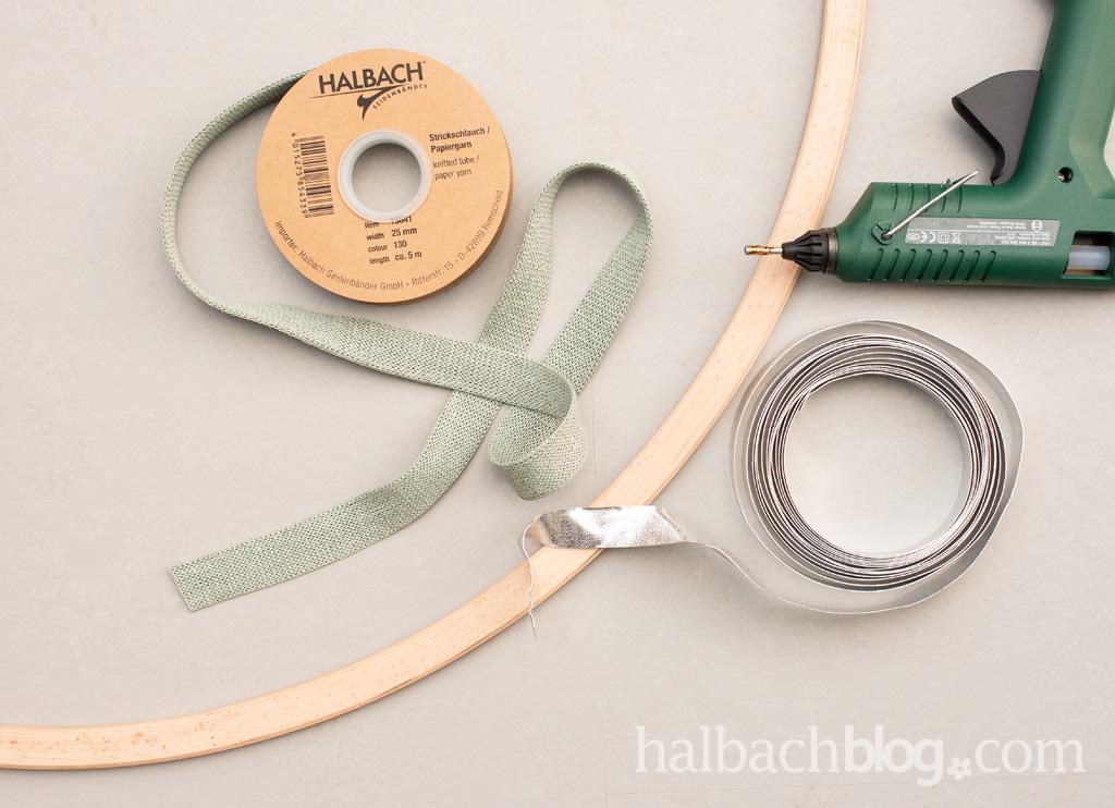 Halbachblog I Dekoring I Letter I & Zeichen I breiter Papier-Strickschlauch mit Flachdraht I Material