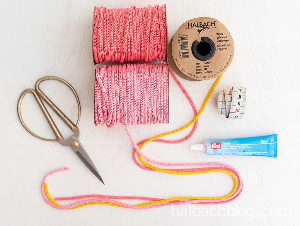 Halbachblog I DIY Idee: Knoten-Untersetzer aus Papier-Strickschlauch I Step-by-Step Anleitung