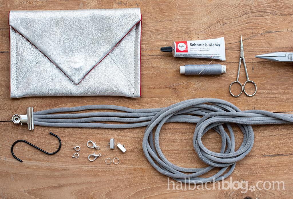 Halbachblog I DIY-Idee: Taschengurt flechten mit Samtschnur I Material