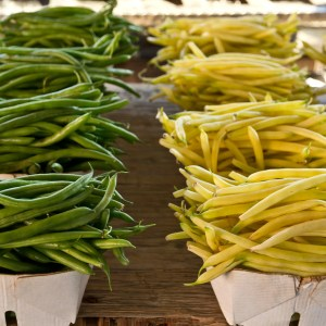 image of green and yellow beans