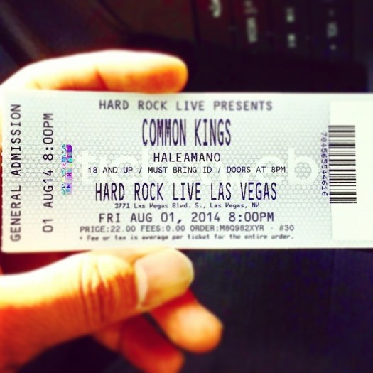 common kings tickets