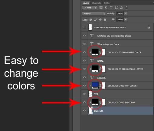 Wine Bag Pattern Template - Photoshop ~ Hale Bound