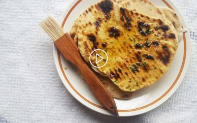 Easy Smoked Water Herbed Flatbreads