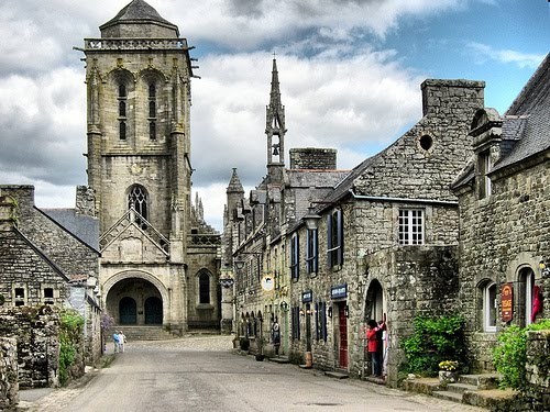Village Square, Locronan, France