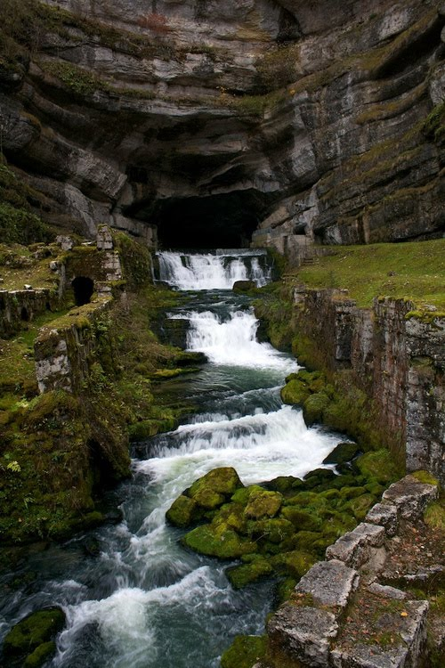 Waterfall Cave, Franche-Comte, France