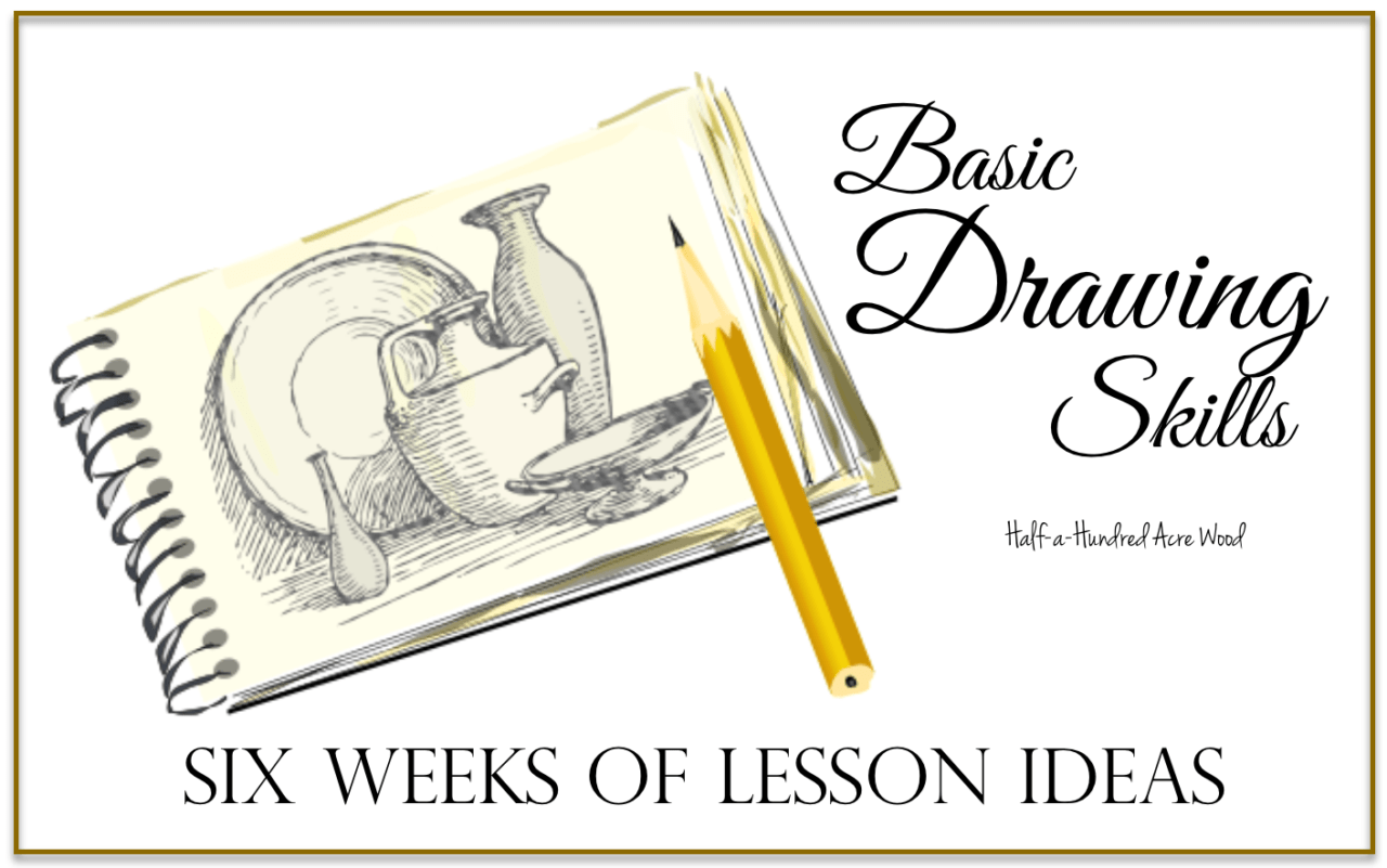 Basic Drawing Skills Six Weeks Of Lesson Ideas
