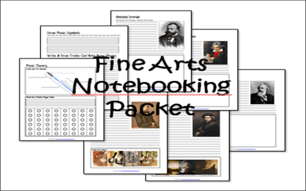 Cycle 2 Fine Arts Notebooking Packet {Free Printables}