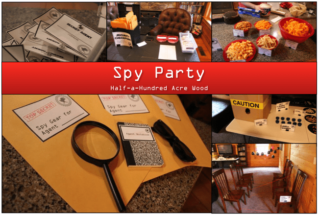 Spy Party Games, Printables, and Memories