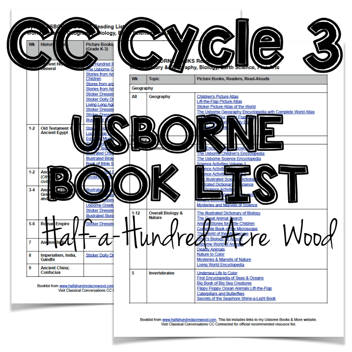 CC Cycle 3 Usborne Book List