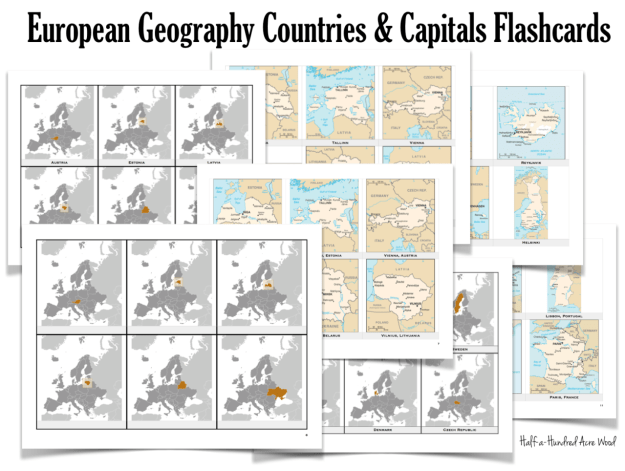 European Countries Captials Flashcards