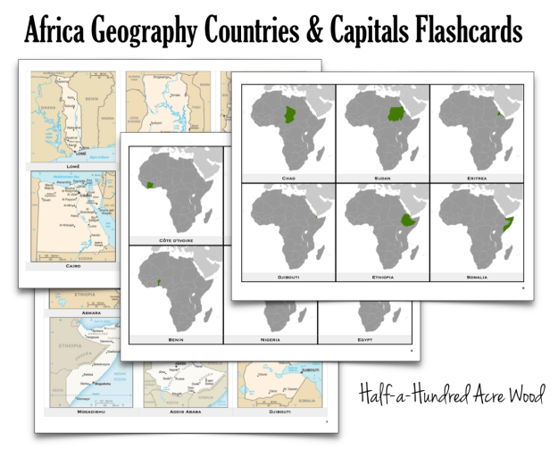Africa Countries Capitals Flashcards