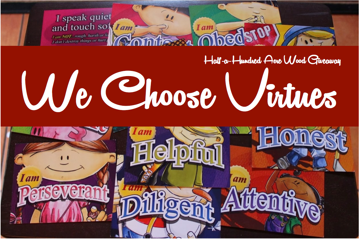 Using We Choose Virtues {and a giveaway!}