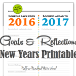 New Years Printable: Goals & Reflections