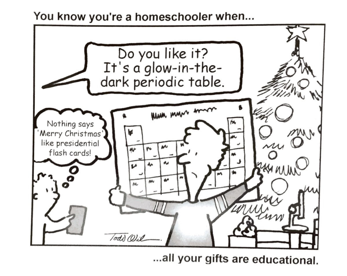 You might be a homeschooler if... your gifts look like this.