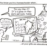You might be a homeschooler if… your gifts look like this.