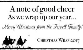 Christmas Wrap 2017: Our Year in Rhyme