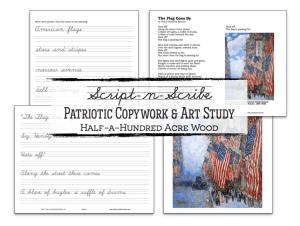 World War I Patriotic Poetry, Art Study, & Copywork