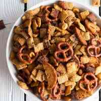 Mom's Secret Christmas Eve Chex Mix.