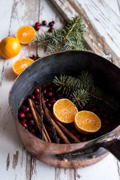 House Scents Natural Room Scents Winter Holiday Simmer Pot Orange Cinnamon Cranberry Pine Needles