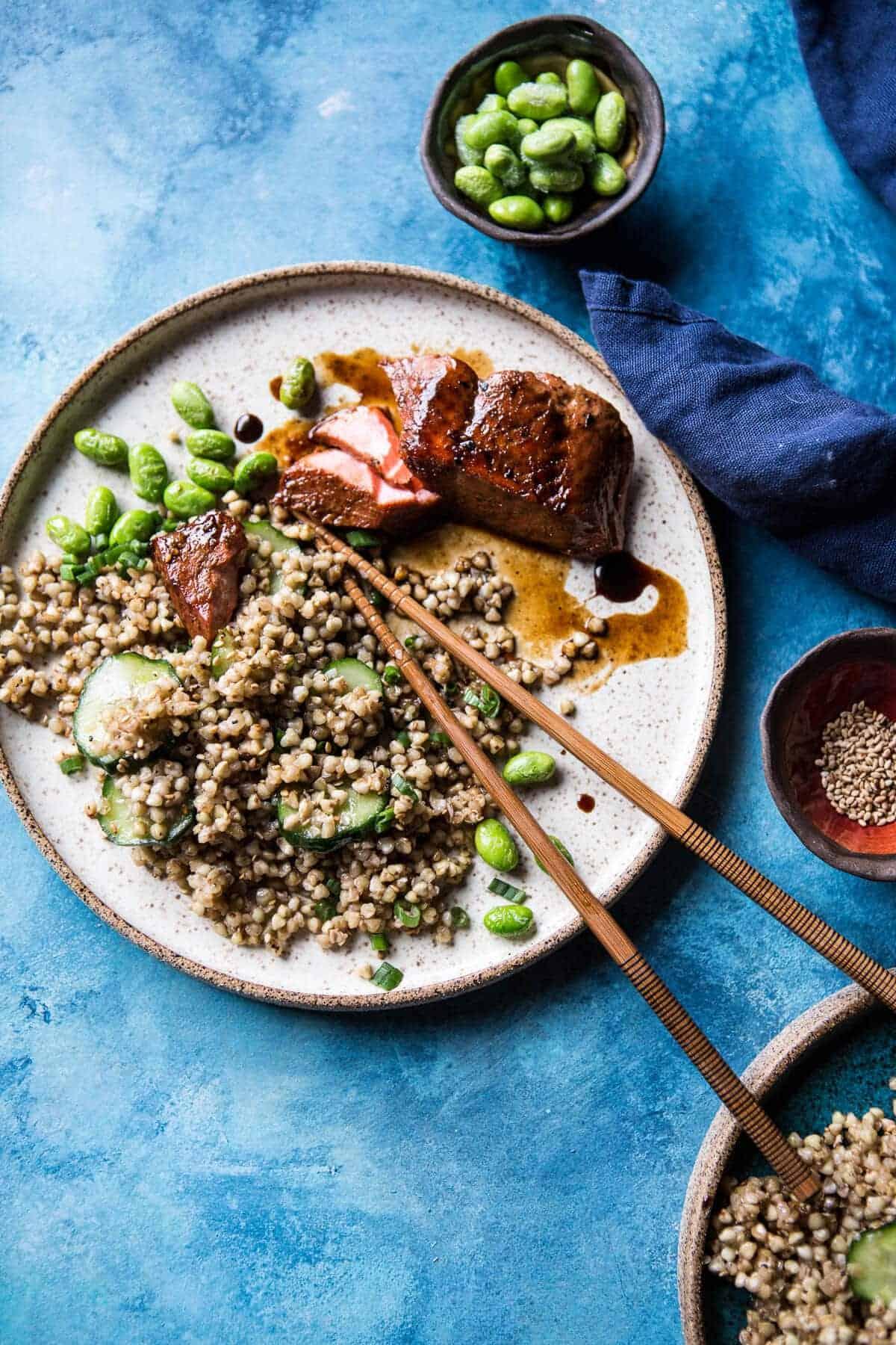Caramelized Teriyaki Salmon with Sesame Toasted Buckwheat | halfbakedharvest.com @hbharvest