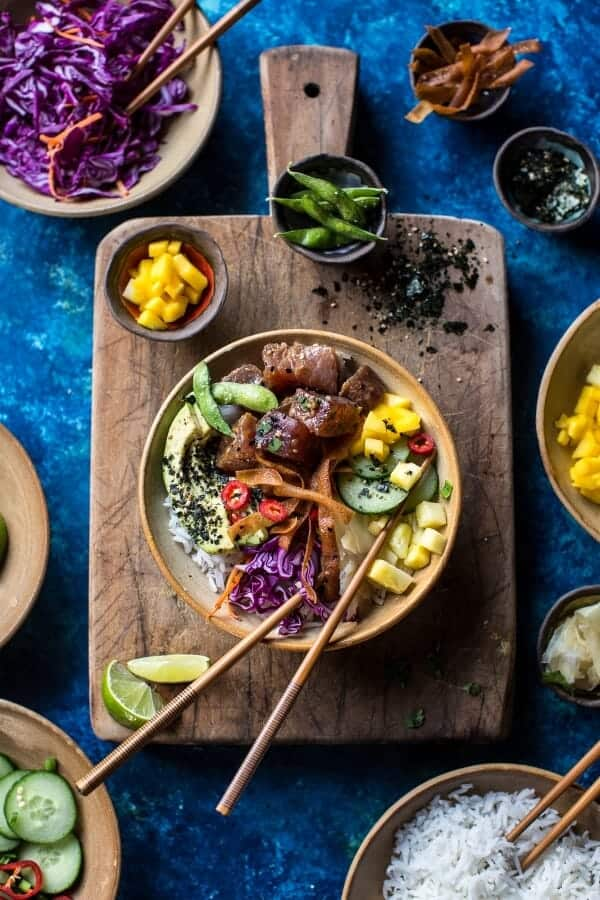 Hawaiian Ahi Tuna Poke Bowl (VIDEO) | halfbakedharvest.com @hbharvest