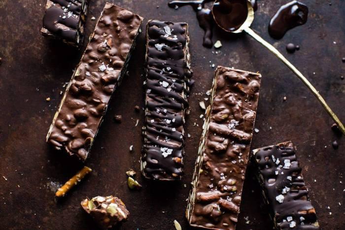 horizontal photo of Addicting 5 Ingredient Crockpot Chocolate Bars