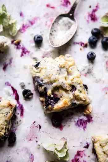 Blueberry Lemon Poppy Seed Scones | halfbakedharvest.com @hbharvest